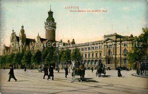 AK / Ansichtskarte Leipzig Neues Rathaus und Deutsche Bank Kat. Leipzig