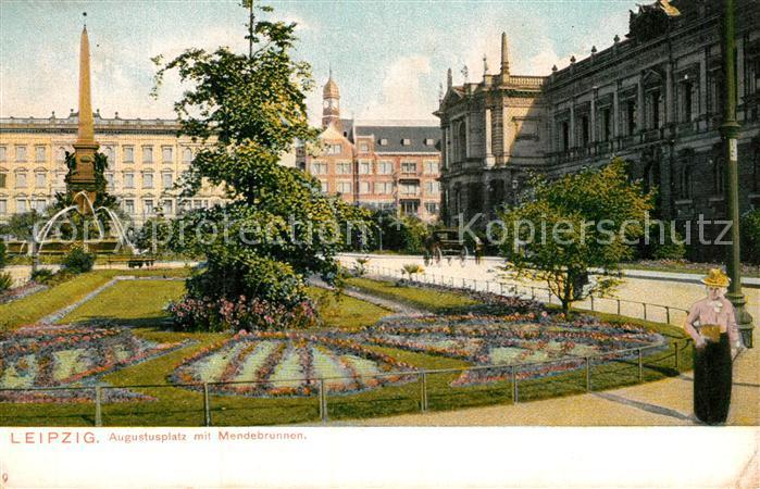 AK / Ansichtskarte Leipzig Augustusplatz mit Mendebrunnen Kat. Leipzig