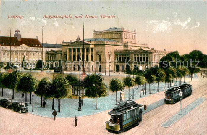 AK / Ansichtskarte Leipzig Augustusplatz Neues Theater Strassenbahn Kat. Leipzig