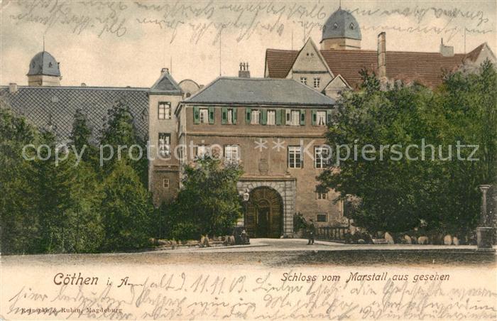 AK / Ansichtskarte Coethen Schloss vom Marstall aus gesehen Kat. Coethen