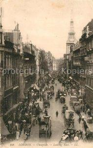 AK / Ansichtskarte London Cheapside looking East Traffic Kat. City of London