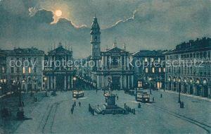 AK / Ansichtskarte Torino Piazza San Carlo Via Roma Mondschein Kat. Torino