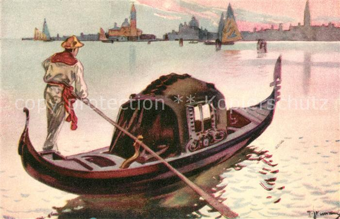 AK / Ansichtskarte Venezia Venedig La Gondola Kat.