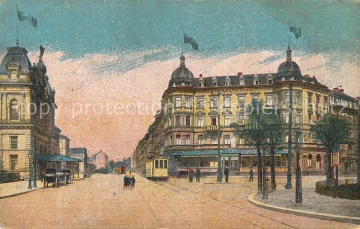 AK / Ansichtskarte Mainz Rhein Bahnhofsplatz