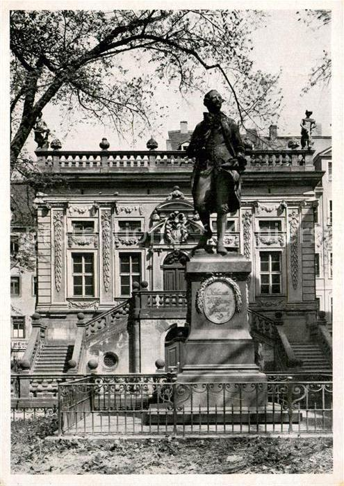 AK / Ansichtskarte Leipzig Alte Boerse mit Goethe Denkmal Statue Kat. Leipzig