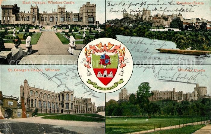 AK / Ansichtskarte Windsor Castle East Terrace St Georges Chapel Wappen Kat. City of London