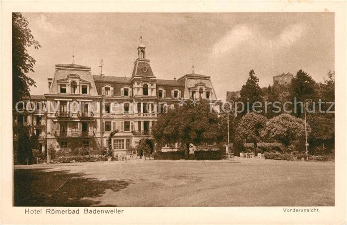 AK / Ansichtskarte Badenweiler Hotel Roemerbad Kurort im Schwarzwald Kat. Badenweiler