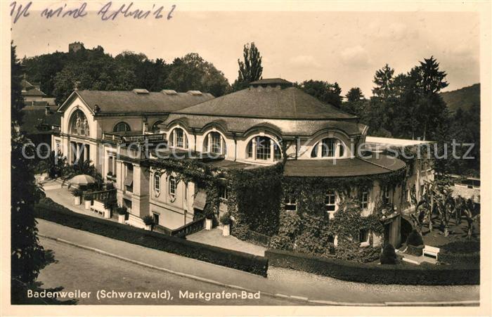 AK / Ansichtskarte Badenweiler Markgrafenbad Kurort im Schwarzwald Kat. Badenweiler