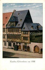 AK / Ansichtskarte Frankfurt Main Goethes Geburtshaus Offizielle Postkarte des Frankfurter Goethe Museums Kat. Frankfurt am Main