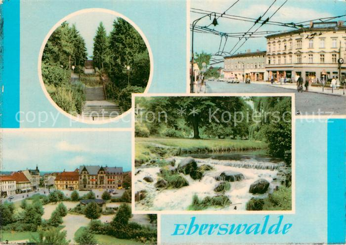 AK / Ansichtskarte Eberswalde Goethetreppe PdF Eisenbahnstr Am Weidendamm Kat. Eberswalde Waldstadt