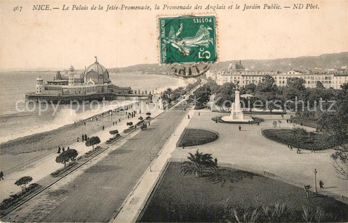 AK / Ansichtskarte Nice Alpes Maritimes Le Palais de la Jetee Promenade des Anglais Jardin Public Kat. Nice