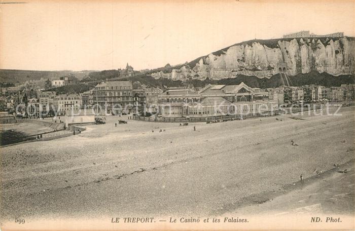 AK / Ansichtskarte Treport Le Casino et les Falaises Kat. Le Treport
