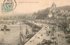 AK / Ansichtskarte Le Treport Quai et du Port Kat. Le Treport