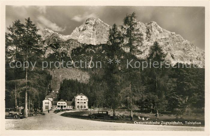 AK / Ansichtskarte Zugspitze Talstation oesterreichische Zugspitzbahn Kat. Garmisch Partenkirchen