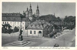 AK / Ansichtskarte Fulda Bonifacius Denkmal mit Blick auf den Dom Kat. Fulda