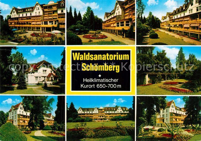 AK / Ansichtskarte Schoemberg Schwarzwald Waldsanatorium Teilansichten Kat. Schoemberg