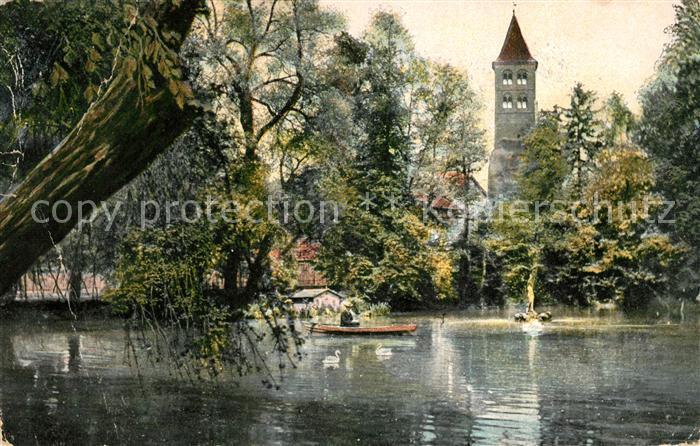 AK / Ansichtskarte Bad Hersfeld Partie am neuen Teich Turm Kat. Bad Hersfeld