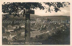 AK / Ansichtskarte St Andreasberg Harz Panorama Blick vom Glockenberg Kat. Sankt Andreasberg