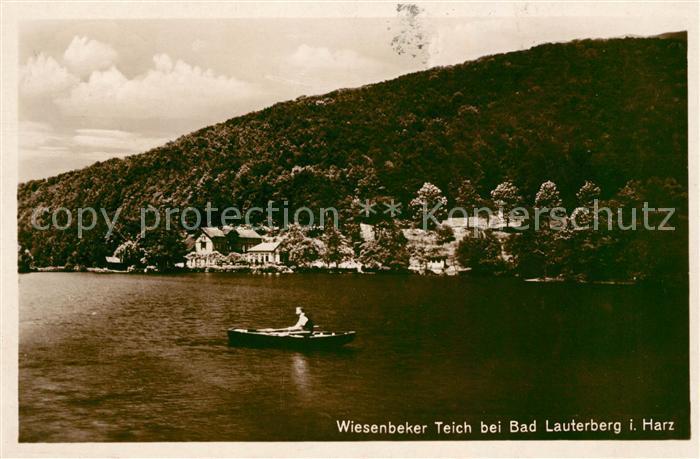 AK / Ansichtskarte Bad Lauterberg Bootfahren Wiesenbeker Teich Kat. Bad Lauterberg im Harz