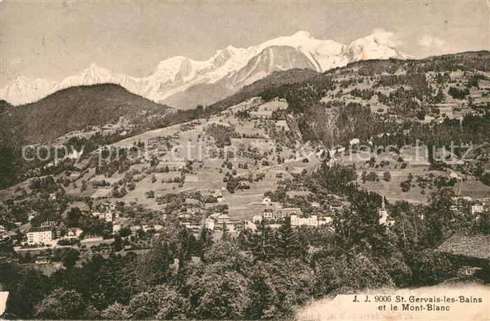 AK / Ansichtskarte Saint Gervais les Bains Fliegeraufnahme Kat. Saint Gervais les Bains