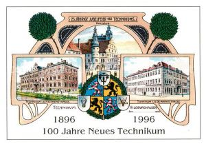AK / Ansichtskarte Hildburghausen Technikum Helenenstr Rathaus Technikum Obere Marktstr Kat. Hildburghausen