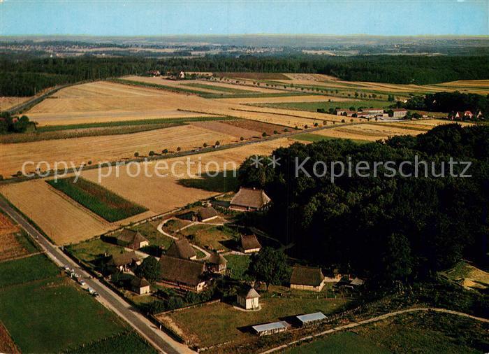 AK / Ansichtskarte Ehestorf Harburg Freilichtmuseum am Kiekeberg Fliegeraufnahme Kat. Rosengarten