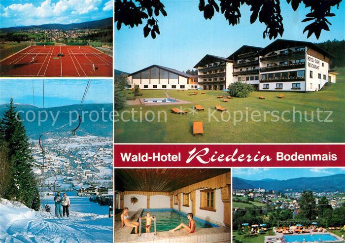 Ak Ansichtskarte Bodenmais Wald Hotel Riederin Hallenbad