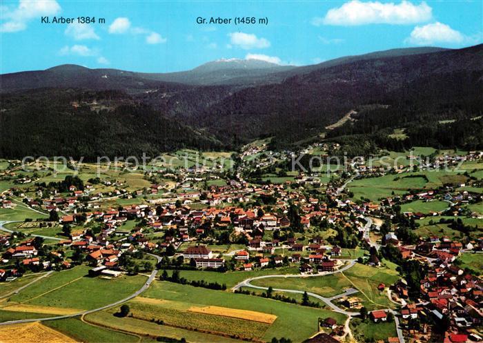 AK / Ansichtskarte Bodenmais Fliegeraufnahme mit Kl und Gr Arber Kat. Bodenmais