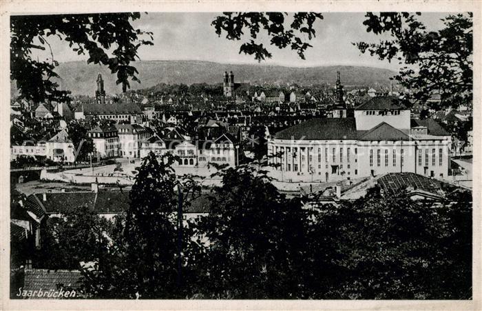 AK / Ansichtskarte Saarbruecken Stadtpanorama Kat. Saarbruecken