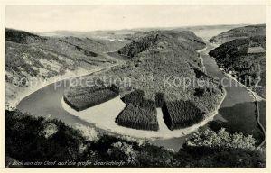 AK / Ansichtskarte Orscholz Panorama von der Cloef auf die grosse Saarschleife Kat. Mettlach
