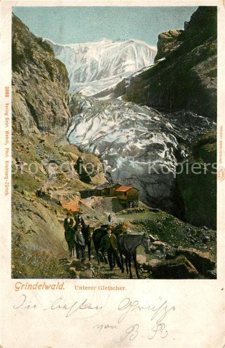 AK / Ansichtskarte Grindelwald Unterer Gletscher Berner Alpen Kat. Grindelwald