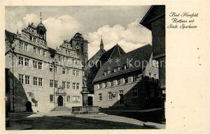 AK / Ansichtskarte Bad Hersfeld Rathaus mit Staedtischer Sparkasse 1200 Jahre Hersfeld Kat. Bad Hersfeld