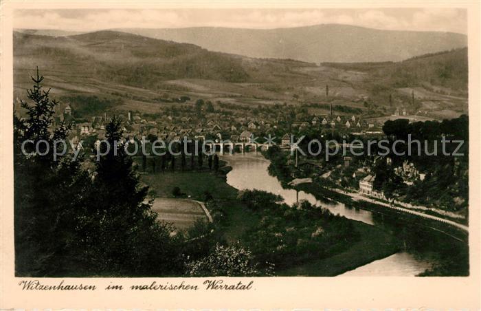 AK / Ansichtskarte Witzenhausen Panorama Werratal Kat. Witzenhausen