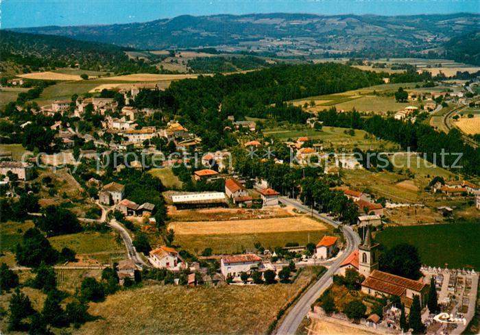 AK / Ansichtskarte Milhars Vue generale aerienne du village Kat. Milhars