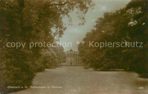 AK / Ansichtskarte Offenbach Main Rathauspark mit Rathaus Kat. Offenbach am Main
