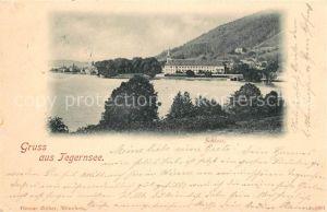 AK / Ansichtskarte Gmund Tegernsee Blick ueber den See zum Schloss Kat. Gmund a.Tegernsee
