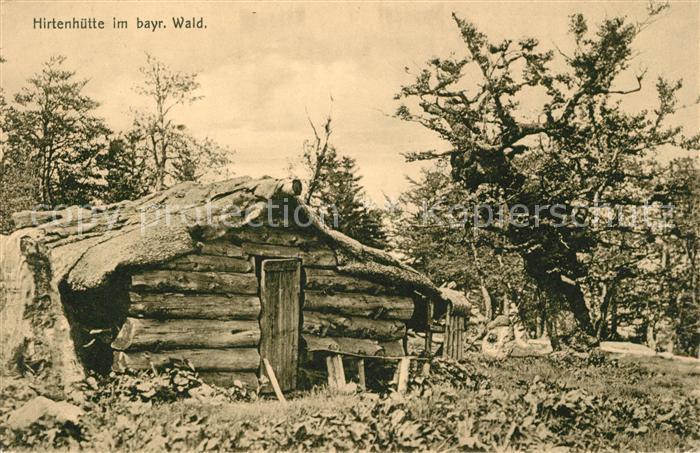 AK / Ansichtskarte Zwiesel Niederbayern Hirtenhuette im bayerischen Wald Kat. Zwiesel