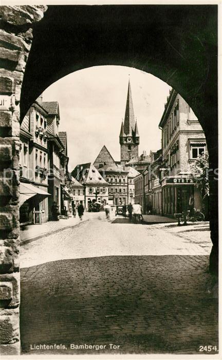 Ak Lichtenfels Blick Durchs Bamberger Tor In Die