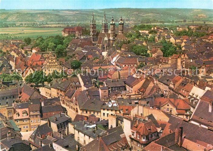 AK / Ansichtskarte Naumburg Saale Fliegeraufnahme mit Dom Kat. Naumburg