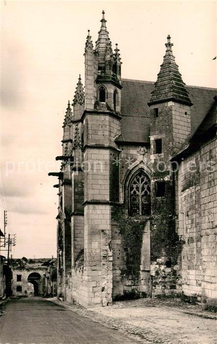 AK / Ansichtskarte Loudun Kirche Saint Hilaire du Martray Kat. Loudun