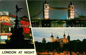 AK / Ansichtskarte London Tower Bridge Piccadilly Circus Tower Kat. City of London