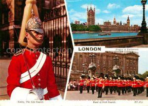 AK / Ansichtskarte London Houses of Parliament Life Guards Band of Irish Guards Kat. City of London