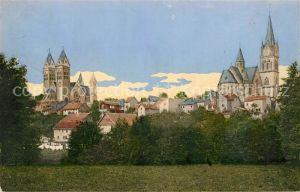 AK / Ansichtskarte Homburg Bad Blick auf die Erloeserkirche und Katholische Kirche Kat. Bad Homburg v.d. Hoehe