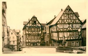 AK / Ansichtskarte Wetzlar Kornmarkt Altstadt Fachwerkhaeuser Brunnen Kat. Wetzlar