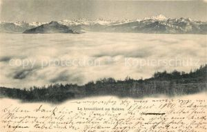 AK / Ansichtskarte Geneve GE Le brouillard au Saleve Nebelmeer Alpenpanorama Kat. Geneve