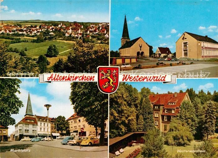 AK / Ansichtskarte Altenkirchen Westerwald Kirche AOK Marktplatz Westerwaldheim Panorama Kat. Altenkirchen (Westerwald)