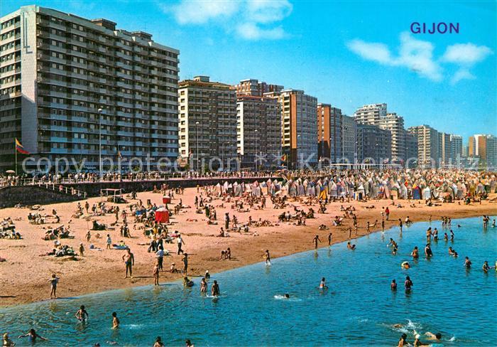 AK / Ansichtskarte Gijon Playa Miami Kat. Gijon