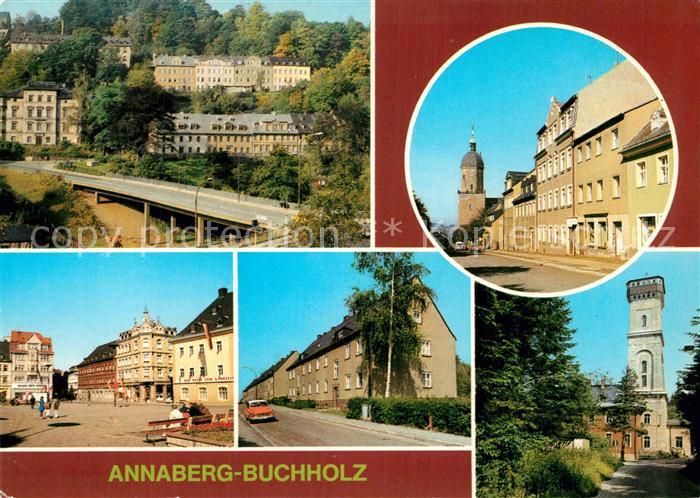 AK / Ansichtskarte Annaberg Buchholz Erzgebirge Annenkirche Markt Poehlberg Kat. Annaberg