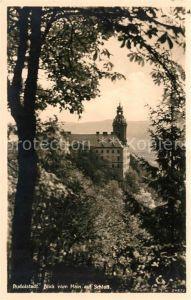 AK / Ansichtskarte Rudolstadt Blick vom Hain auf Schloss Kat. Rudolstadt