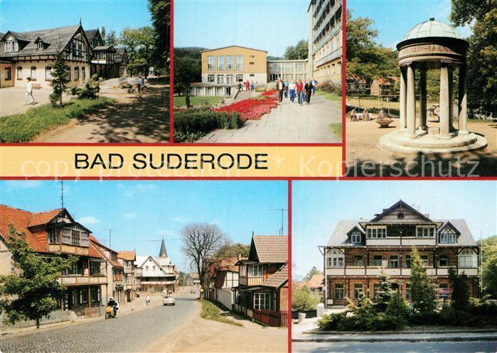 AK / Ansichtskarte Bad Suderode Sanatorium Willi Agatz Badehaus und Hauptgebaeude Behringer Brunnen Rathausstr Rat der Gemeinde Kat. Bad Suderode
